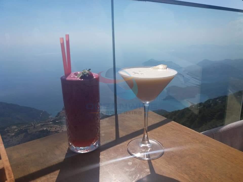 Drinks at Babadağ 1700 restaurant